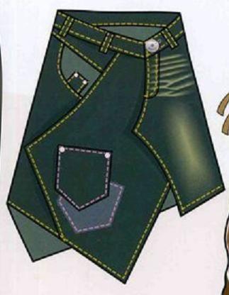 Идеи юбок из старых джинсов