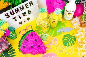 Die schönsten Sommer Party DIY Ideen – 3 kreative Anleitungen