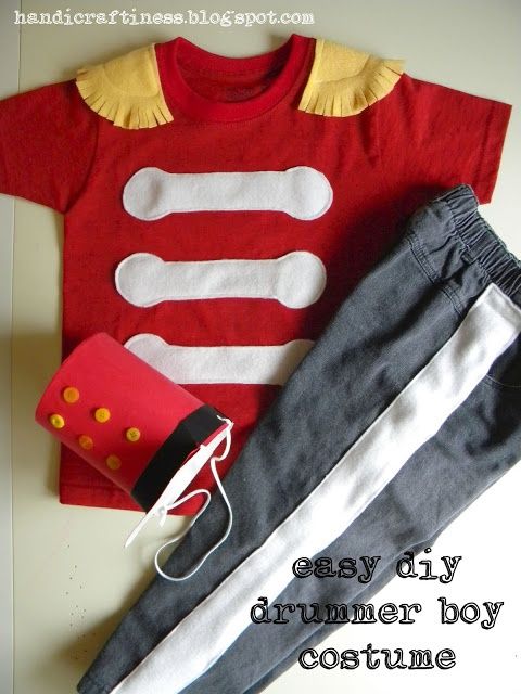 1st Halloween Costume? Drum major or similar from what looks to be a t-shirt/onesie and sweat pants with some fleece pieces sewn on
