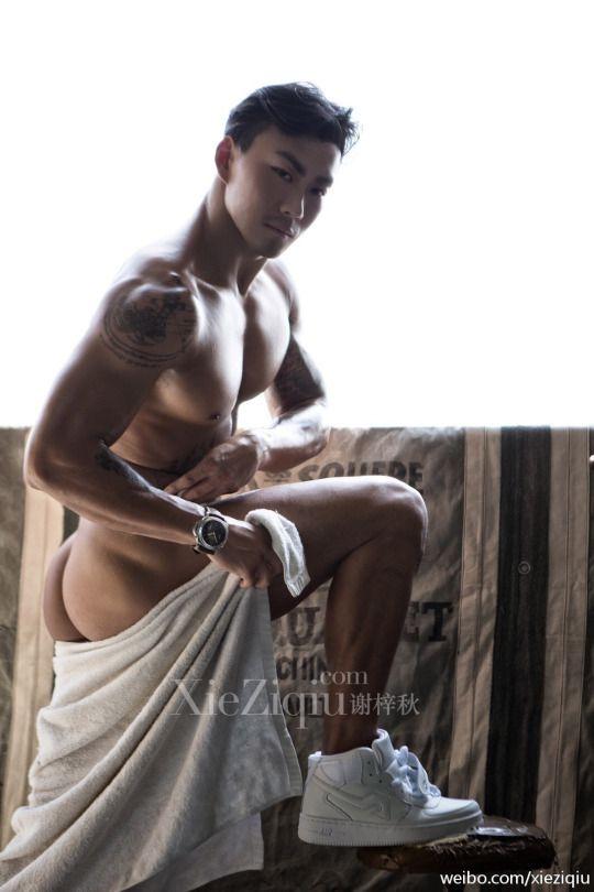 Hot asian male butt