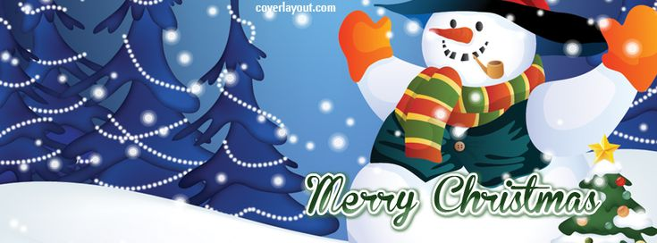 Merry Christmas Snowman Facebook Cover CoverLayout.com ...