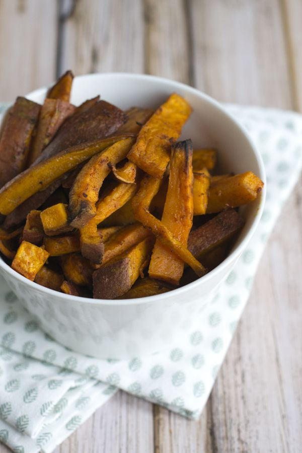 Zoete aardappel friet - Via BrendaKookt.nl