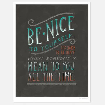 Be Nice To Yourself 8.5x11, $22, now featured on Fab.