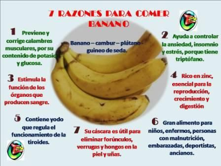 7 Razones para Comer Banano