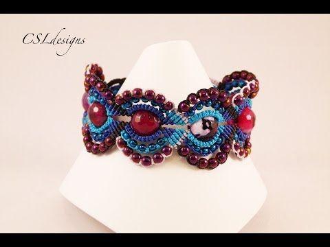 ▶ Micro macrame circles bracelet - YouTube