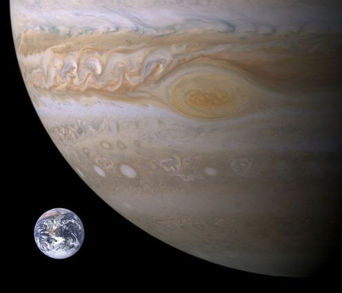 The power of Jupiter's Great Red Spot: enormous storm may be heating the atmosphere