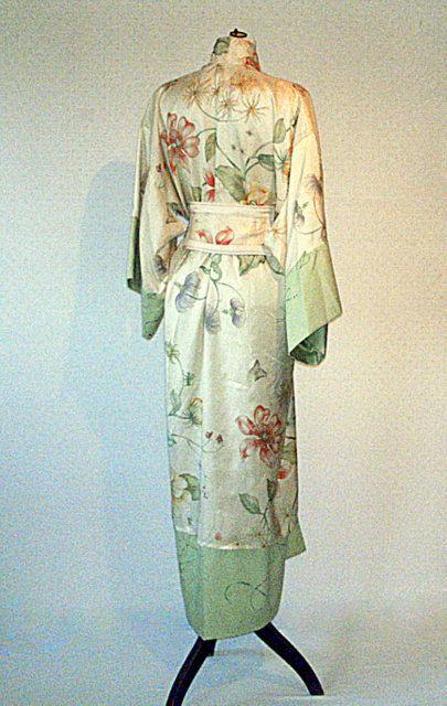 Silk Kimono Robe Morning Robe Tailored Fashion by KissMouth, $290.00