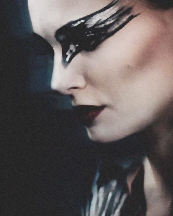Ideas for white and black swan makeup for Halloween costumes
