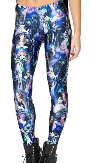 Summer Style Blue Star Pattern Print Leggings Gothic Gothic Interest Harajuku Style Fitness Women Sexy Slim Pants BL-403