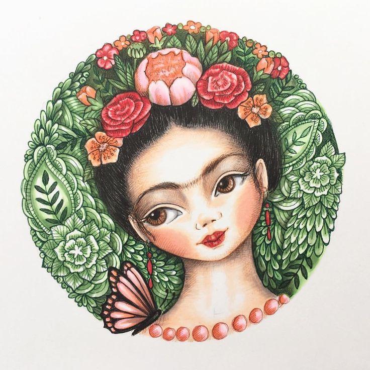 "133 Likes, 10 Comments - Mookoo Design & Illustration (@mookoodesign) on Instagram: ""Frida. #art #artist #art_we_inspire #artoftheday #artwork #artistsoninstagram #illustration…"""