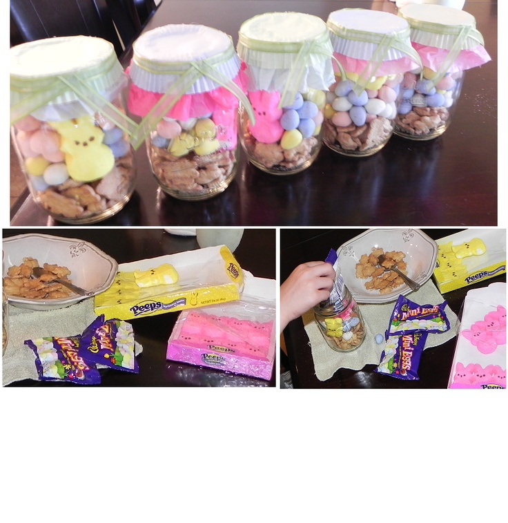 240 best easter images on pinterest easter decor easter party diy easter smores fill mason jars with layers of the following teddy grams negle