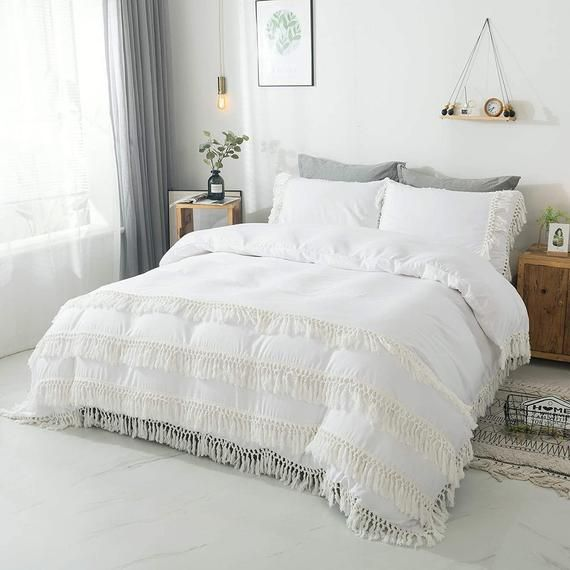 Oversized King Bedding Super King Duvet Cover 120x98 Solid Etsy In 2021 White Duvet Covers White Duvet Super King Duvet Covers