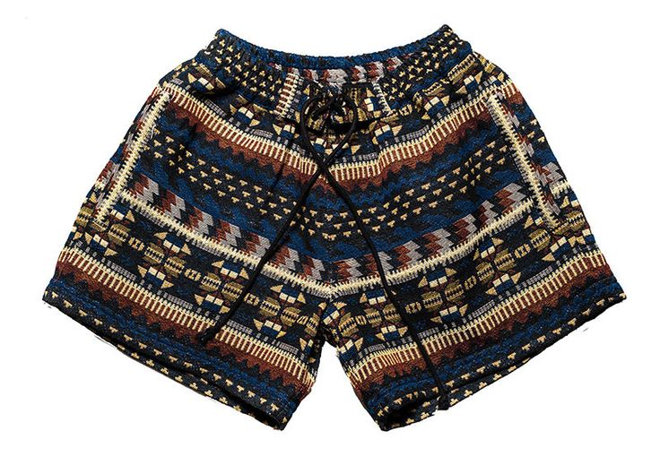 Women bohemian shorts in beautiful inca / graphic earthcolor design by Aviimade on Etsy