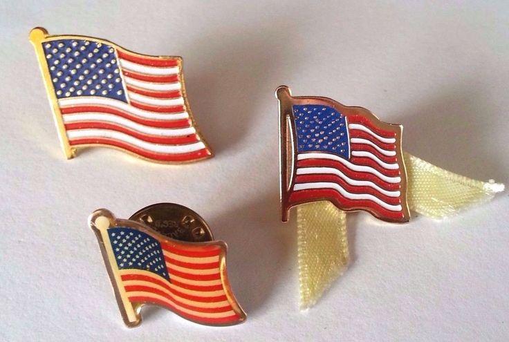 Vintage American Flag Pin   USA Patriotic