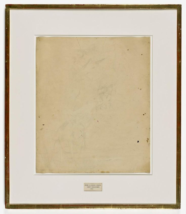 Robert Rauschenberg, 'Erased de Kooning Drawing'