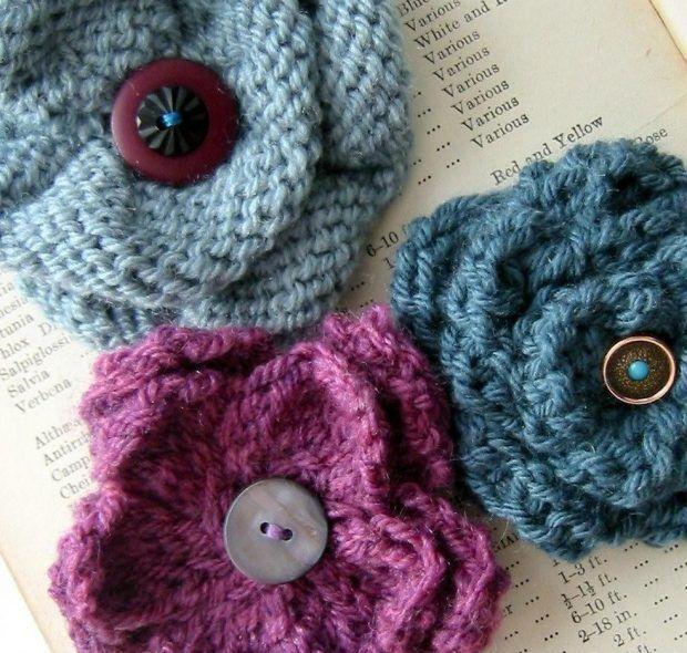 Viking Knit Bracelet Pattern : Best 25+ Knitted Flowers ideas on Pinterest Knit flowers, Knitted flowers f...
