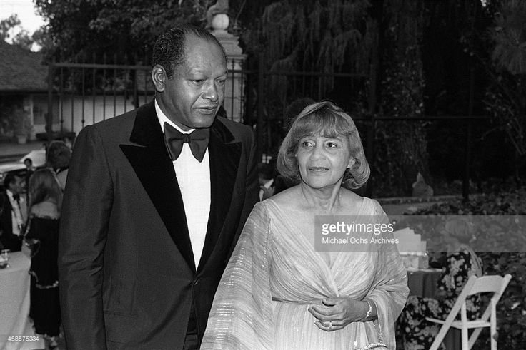 Los Angeles Mayor Tom Bradley and his wife Ethel attend a function circa 1984 in Los Angeles, California.