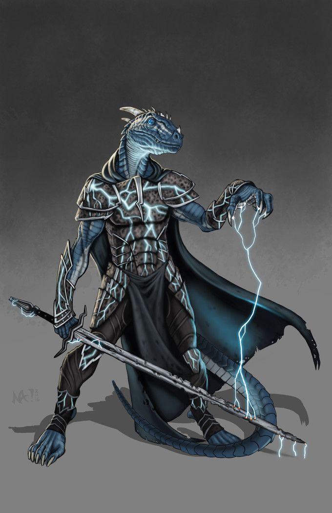 Blue Dragonborn Cleric for /u/Scruffy_lookin