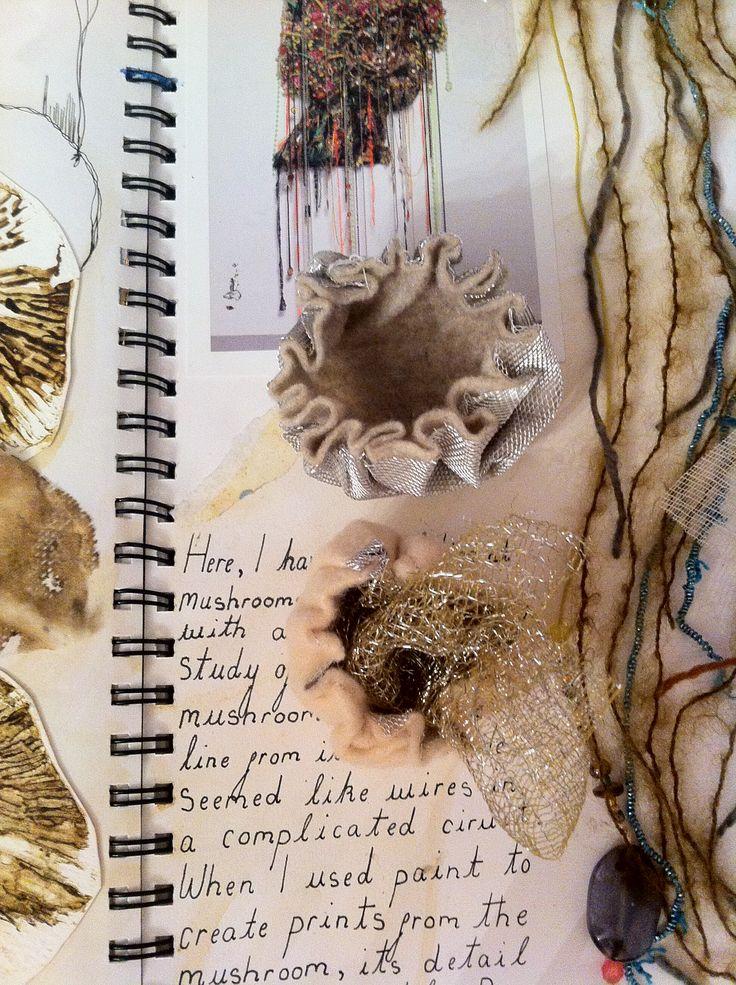 3D textile mushrooms //