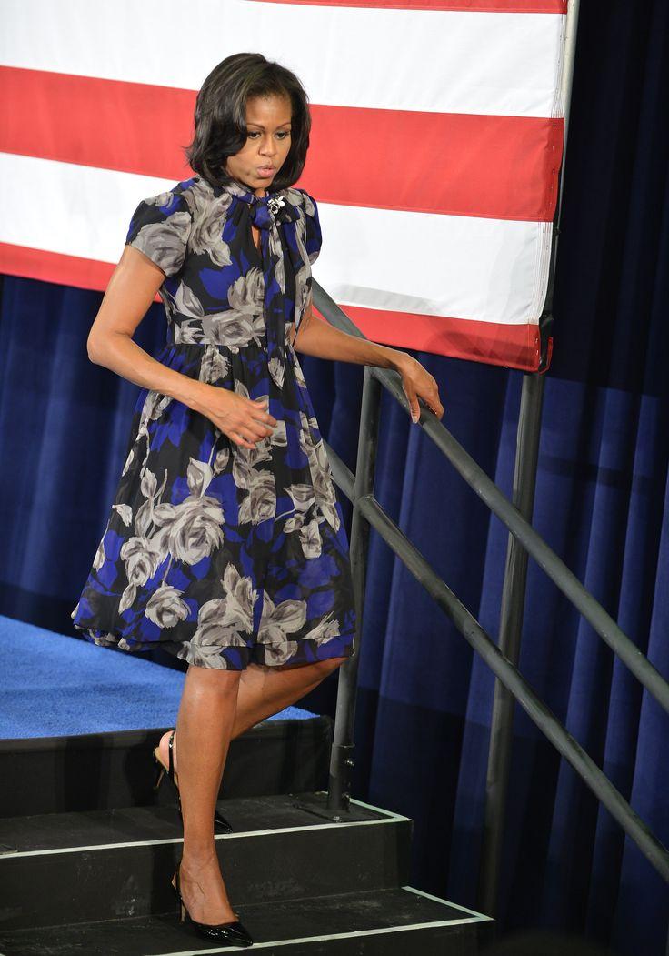 US. First Lady Michelle Obama speaks at Broward College on October 22, 2012 in Davie, Florida.Photo Credit: Vallery Jean, FilmMagic via StyleList
