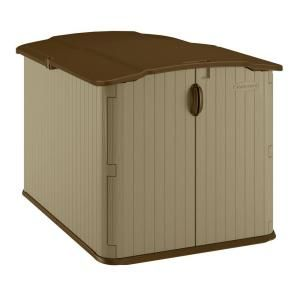 Suncast Glidetop 6 ft. 8 in x 4 ft. 10 in. Resin Storage Shed-BMS4900 at The Home Depot