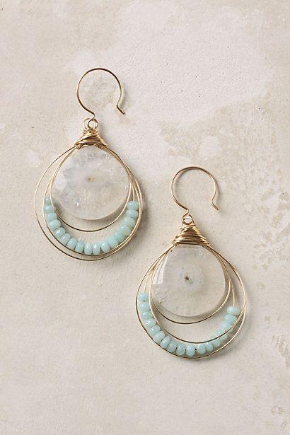 Anthropologie Stellar Drops Earrings. I like the loop over loop style of these.
