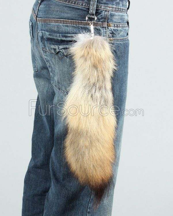 Coyote Fox Tail Keychain - Coyote Tail