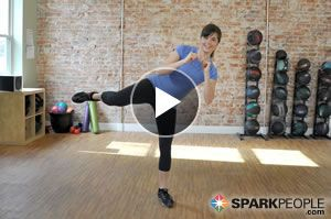 Burn 100 calories in 10 minutes with this fun cardio kickboxing workout! | via @SparkPeople #fitness #exercise #video