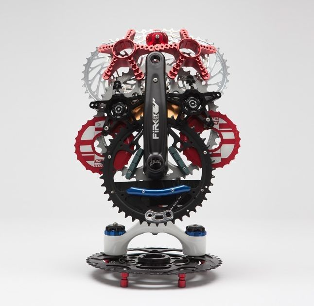 'Gearhead D'Avid' by Leo Sewell is one of the works up for auction in the SRAM pART PROJEC...