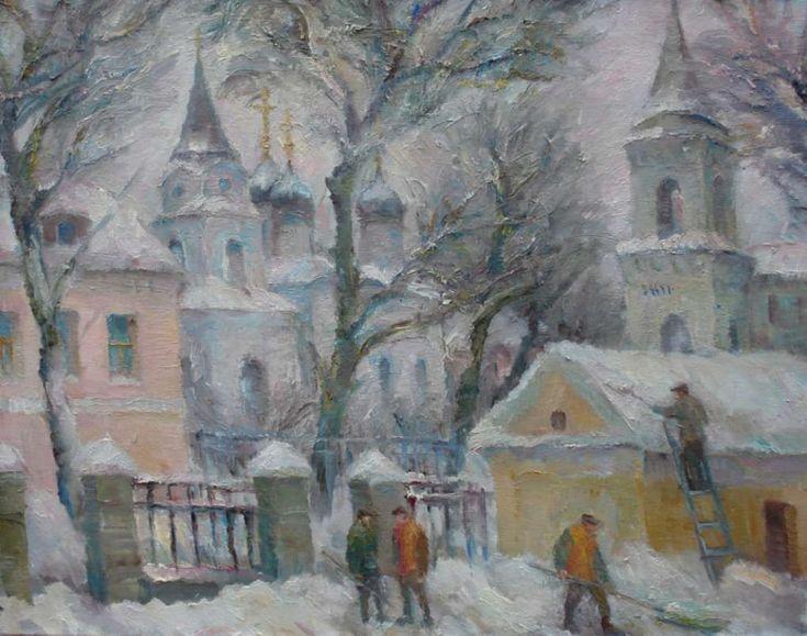 Зимний пейзаж. 2013. Х.м. 70х90