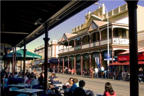 """Fremantle's famous """"Cappuccino Strip"""" - South Terrace."""