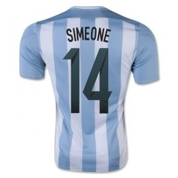 Argentina national team 2015 Home Simeone #14 Soccer Jersey [A905]