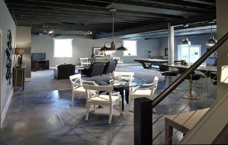 Painting Basement Floor Concrete ~ http://lanewstalk.com/painting-concrete-floors-in-beautiful-way/