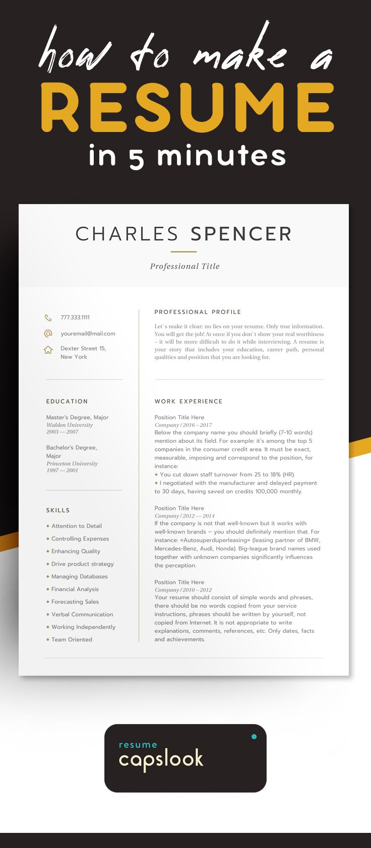 45 Best Modern Resume Templates Download On Etsy 2018 Images On