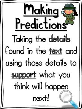 MAKING PREDICTIONS - Anchor Chart simple and to the point!
