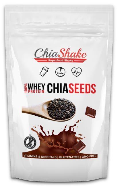 Chia Shake  Výživné Jídlo - CHIA Semínka, Kokos & WHEY Protein + Vitamíny a Minerály.  Stačí pouze smíchat s vodou/mlékem, ideální na snídani nebo rychlý oběd.