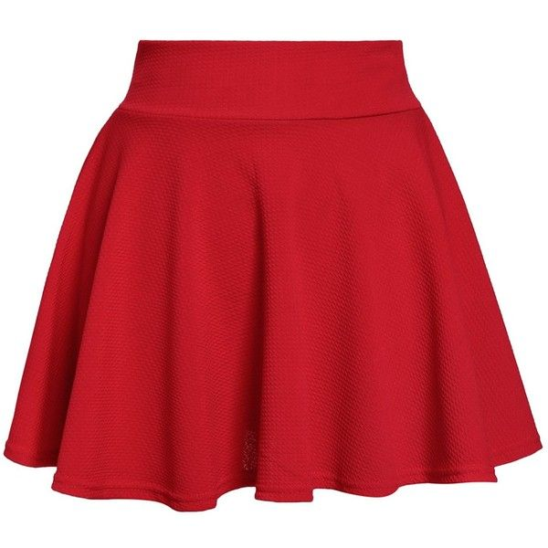 Sweet Elastic High Waist Ruffles Solid Color Women s Skirt ($6.46) ❤ liked on Polyvore featuring skirts, bottoms, saias, flounce skirt, red ruffle skirt, high waisted skirts, red skirt and frill skirt