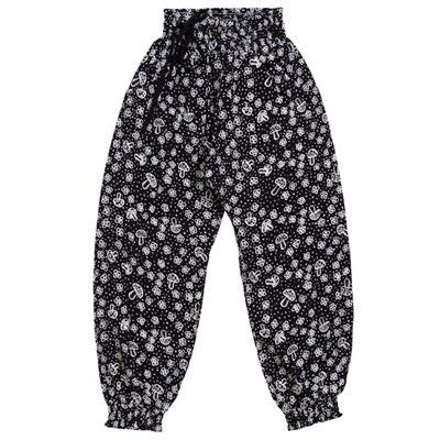Paper Wings girls Mushies and Flowers cuffed pants