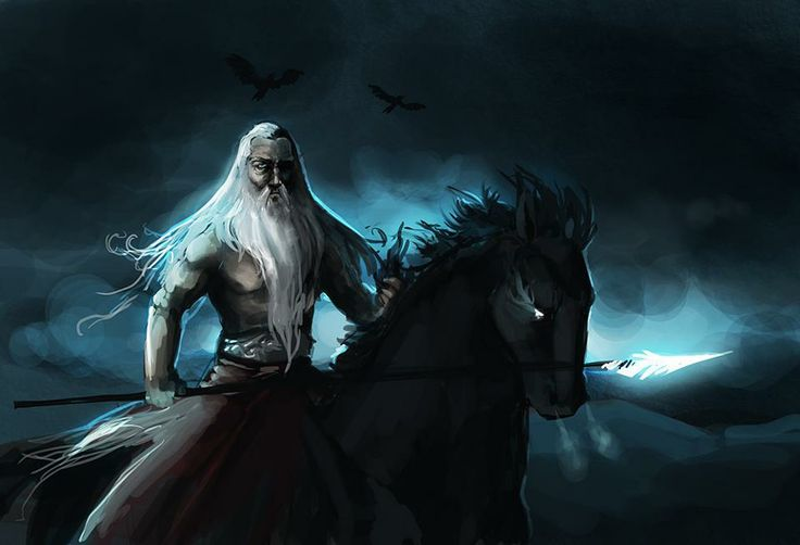Odin on Sleipnir | The Wild Hunt | Pinterest