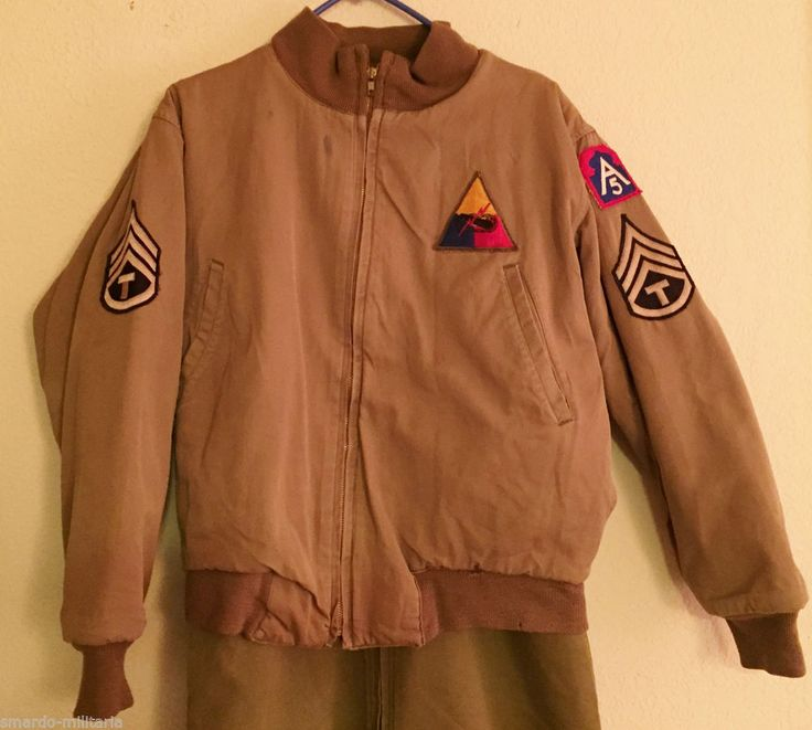Original Wwii Us Army Cold Weather Tankers Jacket