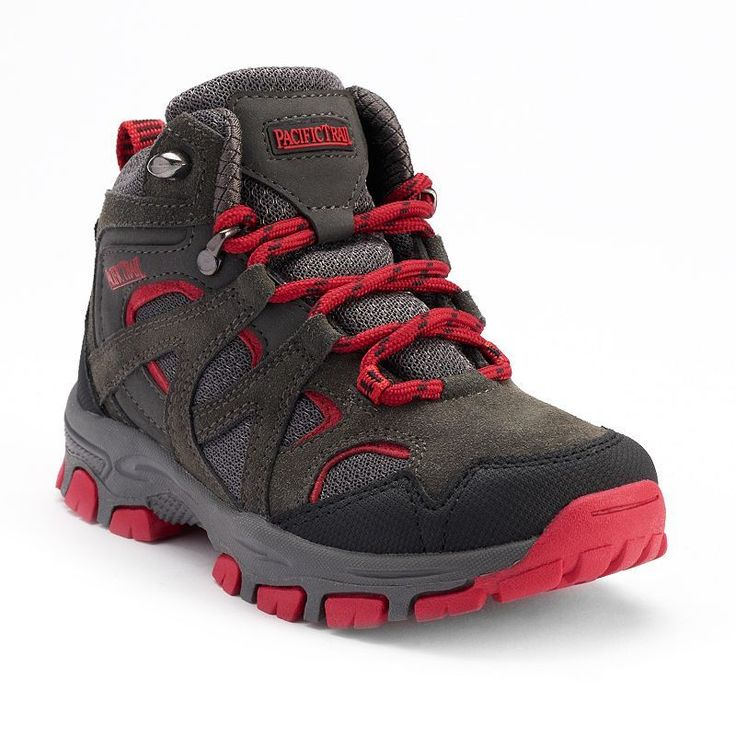 Pacific Trail Diller Light Boys' Hiking Boots, Boy's, Size: 10 T, Dark Grey