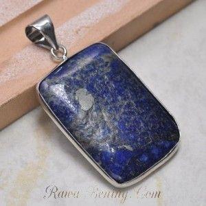 Liontin Lapis Lazuli 16.17 carats dengan Frame Lapis Emas 18k