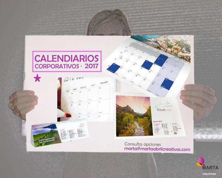 ¡Es tiempo de ir viendo tus #calendarioscorporativos 2017! Envía mail a marta@martaabrilcreativos.com y consulta opciones!