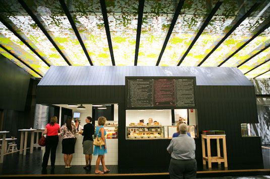 The Tuck Shop is the latest collaboration between Hecker Guthrie and the team behind Outpost and Sensory Lab. Located in the NAB building at 500 Bourke St, the Tuck Shop takes you back to halcyon school dayswhere lining up for some good tucker was a highlight of your day. Lunch order anyone?
