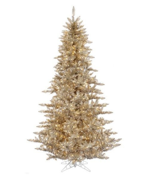 Vickerman Champagne Fir Pre-lit Christmas Tree - Christmas Trees at Hayneedle