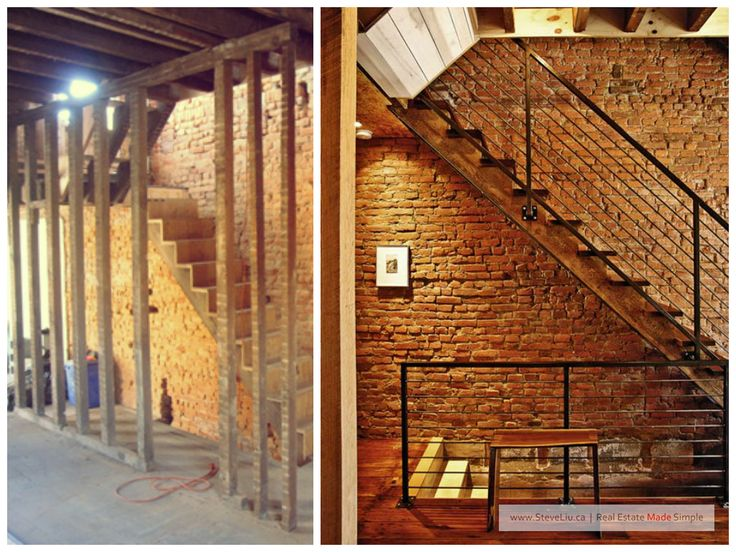 unfinished basement exposed brick wall before after pinterest bricks exposed brick. Black Bedroom Furniture Sets. Home Design Ideas