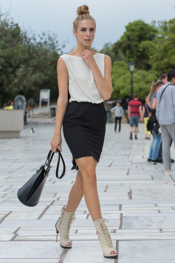 Black & white dress , by nadia rapti
