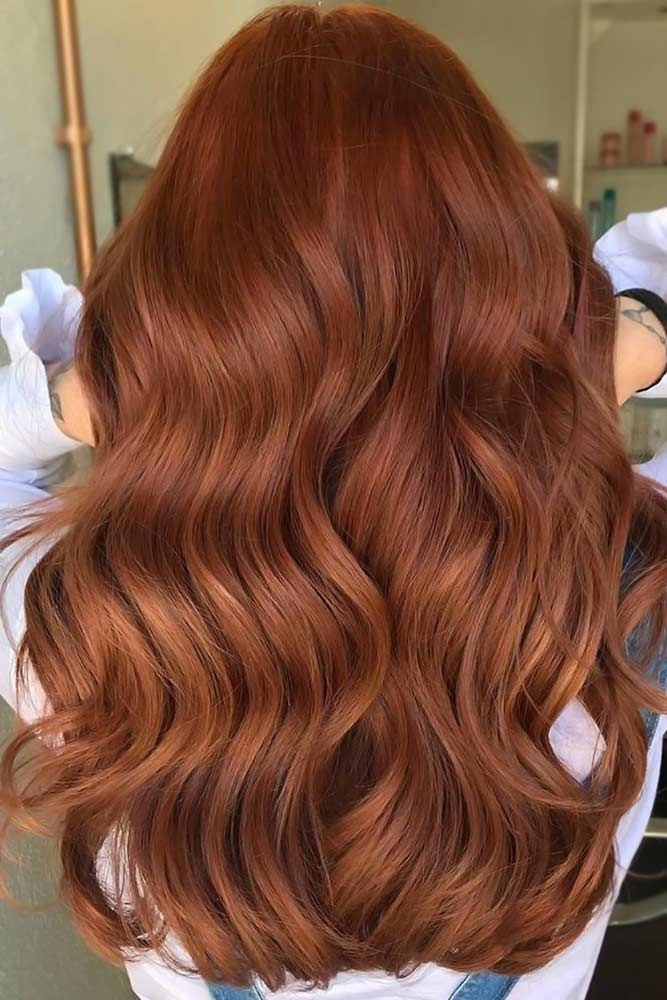 Brick Red Balayage #redhair #darkredhair ❤ Want to catch people's eyes with bold dark red hair color? The latest ideas are here in our color gallery: see the deep cherry ombre, all-over mahogany coloring with purple hues, and auburn ideas with brown balayage. ❤ #lovehairstyles #haircolor #hairstyles