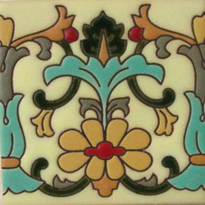Mexican Tile Border handpainted rvl 179-A