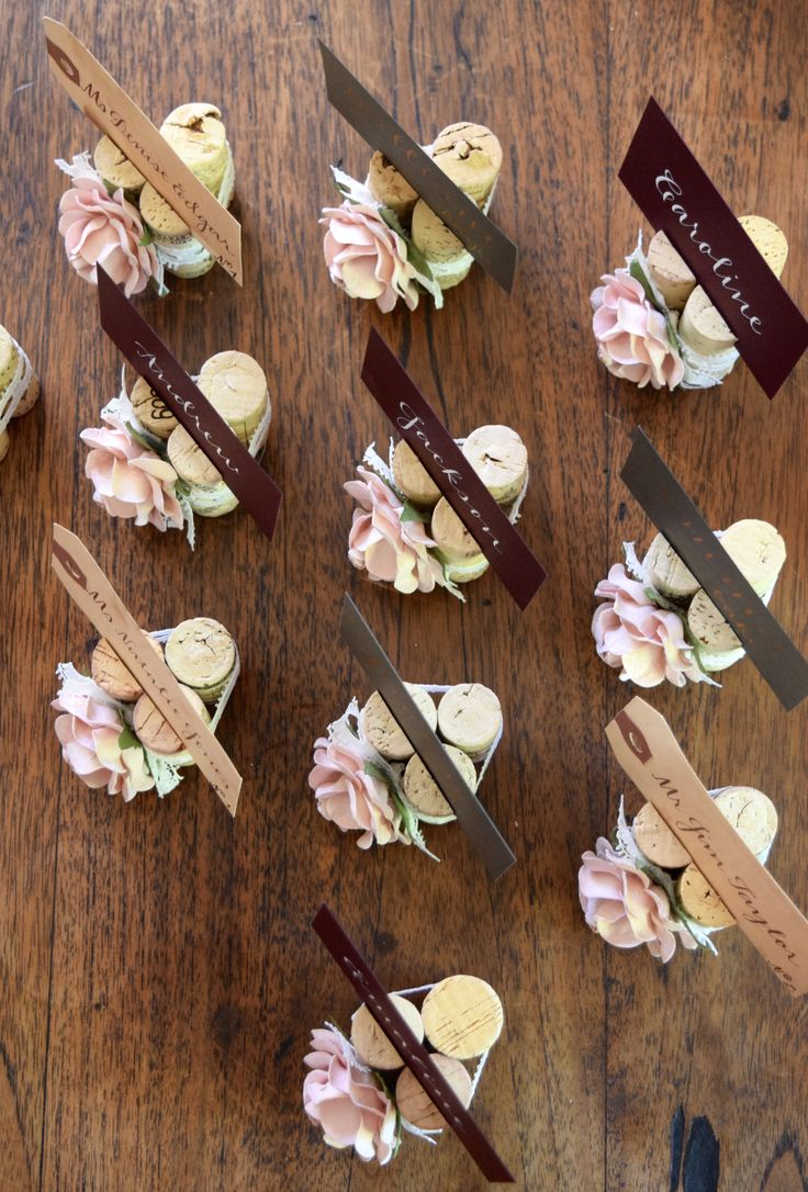 silver heart wedding place card holders%0A     best Your Wedding Place Card Table images on Pinterest   Cork place  cards  Corks and Fitness studio